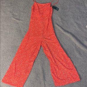 wide leg cropped jumpsuit